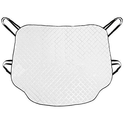 SEG Direct Universal Car Windshield Sunshade, Snow Cover, Fits Cars SUVs MPVs Pickup Trucks Vans, All Season Protector - Reflects Sunlight and Prevents Snow Build-up, Extra-Large (Insulated Van)