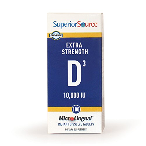 Superior Source Extra Strength D3, 10,000 IU, 100 Count