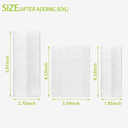 500 PCS Non-Woven Plant Nursery Bags Plants Grow Bags Fabric Seedling Pots Plant Seeding Bags for Home Garden Supply(200Pcs 3.5