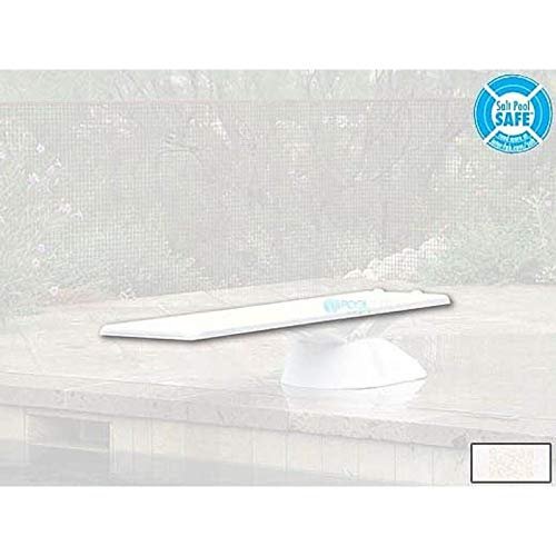 Inter-Fab EDGE8WW Edge AquaBoard 4-Hole Diving Board 8' White by Inter-Fab