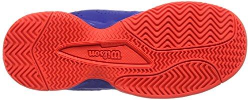 Wilson Tennisschuhe Kaos Comp Junior Safety Blau (Amparo Blue/Surf The Web/Fiery Coral)