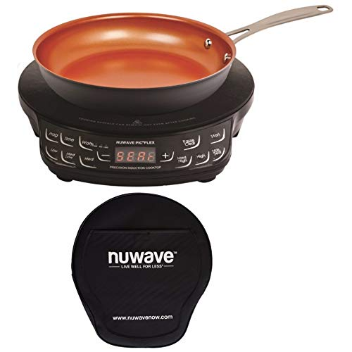 NuWave PIC Flex Precision Cooktop with 9'' Fry Pan and Storage Case by NuWave