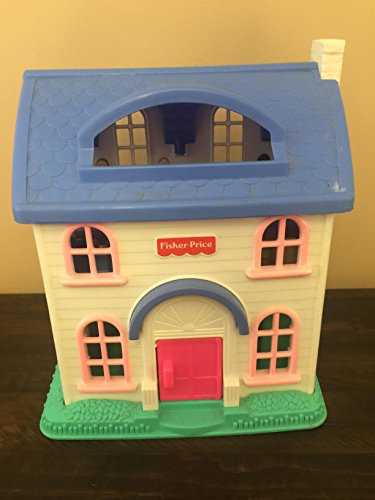 Fisher Price Little People House Blue Roof #2511