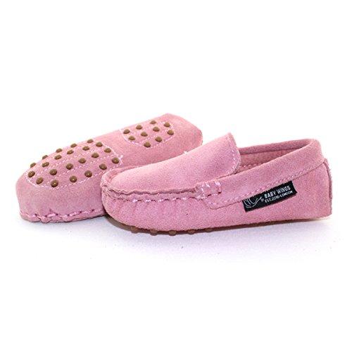 BABYWINGS ® Unisex Enfants & Bébés Suède 100% cuir Chaussures (12-18 Months: Length: 14.5cm, Rose)