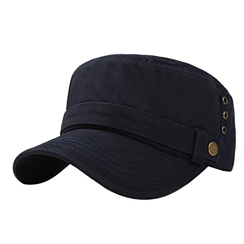 Mens Cotton Running Cadet Flat Top Twill Corps Military Army Baseball Cap Hat
