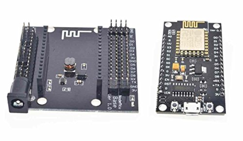 ARCELI ESP8266 Development Board NodeMCU Lua V3 WiFi CH340G USB Base Shield (Esp8266 Lua Nodemcu Wifi Network Development Board)