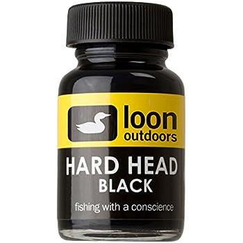 LOON HARD HEAD BLACK  Cement Fly Tying Fresh!!!
