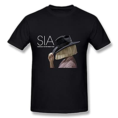 Best Black T Shirt For Men Sia Tour 2016 Logo Sister This Is Acting