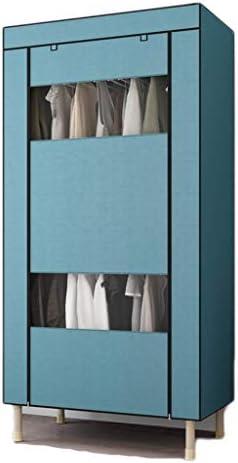 ZXCTD クローゼットオーガナイザーポータブルワードローブクローゼットの服クローゼットポータブルクローゼットワードローブのクローゼットオーガナイザークローゼットの服ポータブル服 (Color : Blue, Size : 85cm)