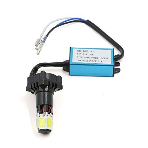 eDealMax Universal Moto et en Voiture Salut/Lo faisceau 6-LED Blanc COB tête de la Lampe Kit 30W