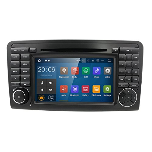 Android 7.1 Quad Core Car In Dash Radio For Mercedes Benz ML CLASS W164 2005-2012 & ML300 & ML350 & ML450 & ML500 DVD Player GPS Navigation 7