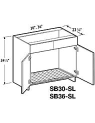 Madrid Beach Deluxe Sink Base Cabinet 36 Wide Shelf Liner 2 Doors