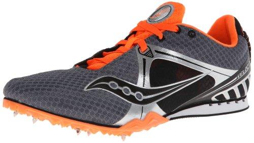 Saucony Men's Velocity Track Shoe,Grey/Orange,12 M US