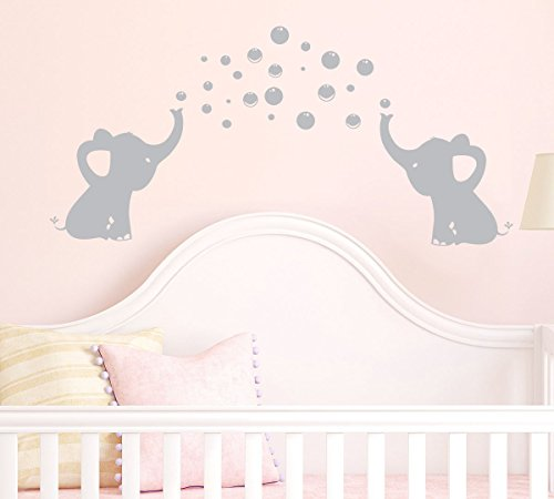 Elephants Bubbles Decal Sticker Nursery product image