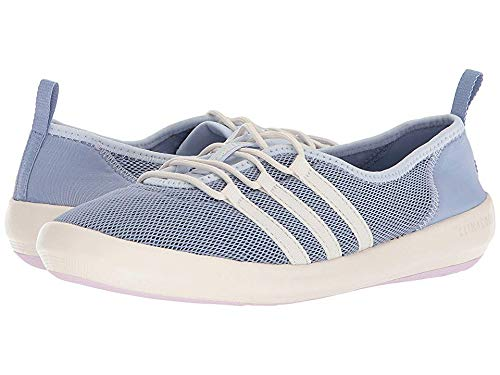 reputable site 4a03a a6c62 adidas outdoor Women s Terrex CC Boat Sleek Walking Shoe Blue Chalk White aero  Pink