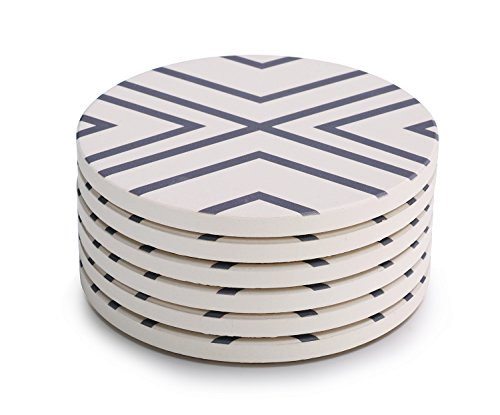 Lifver 6-Piece Absorbent Stone Coaster set,
