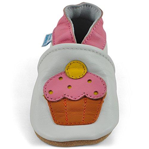 Con Cupcake Morbida Ragazzo Scarpe In Scarpette Passi Neonato Bambino Scamosciata Ragazza Scarpine Suolla Primi Pelle Bambina ZxaHwqx