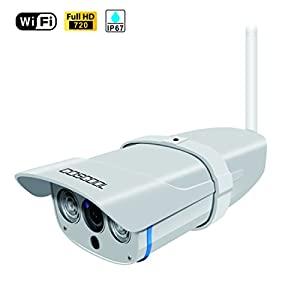CosCool IP Camera 720P Wireless,Outdoor/Waterproof IP67 level,Surveillance Wifi Camera Network IP Security WebCam,Night Vision 15M,ONIVF Supported,With Metal Housing IP Camera 17