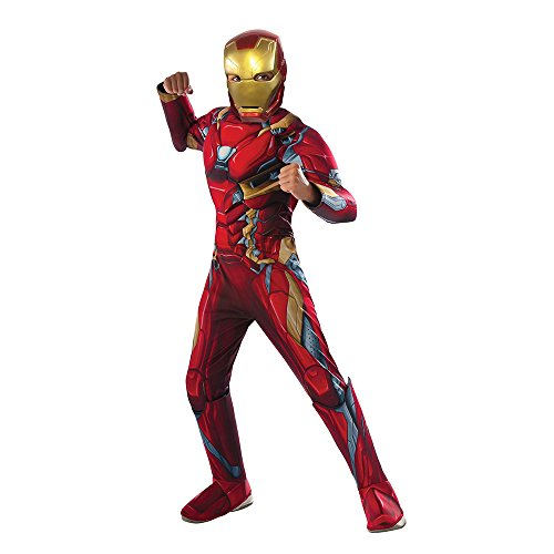 Iron Man Costume 2016 (Rubie's Costume Captain America: Civil War Deluxe Iron Man Costume, Small)