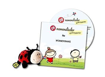 Namenslieder Cd Mit Kuscheltier 8 Personalisierte Kinderlieder Gesungen Mit Ihrem Wunschnamen Persönliches Geschenk Zur Taufe Geburt Geburtstag