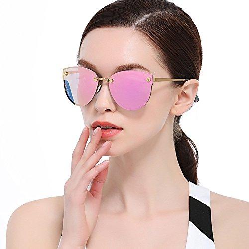 sol gafas Gafas Oro sol metal polarizadas de 6 Gafas moda de sol Violeta de de gafas de Shop Marco de polarizadas sol de 65x1pag5wq