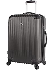 Lucas Outlander Luggage Large Hard Case 28 inch Expandable Rolling Suitcase With Spinner Wheels
