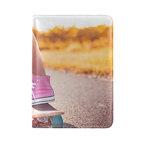 Skateboard Sneakers Summer Leather Passport Holder Cover Case Travel One Pocket by ANT-PASSPORT