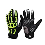AINIYF Full Finger Motorcycle Gloves | Men's And Women's Mountain Bikes Sports Gloves Ankle Spring And Autumn (Color : Green, Size : XL)