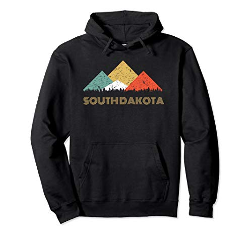 Retro South Dakota Mountain Hoodie for Men Women and Kids -