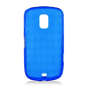 Blue Clear Patterned Flex Cover Case for Samsung Galaxy S Lightray 4G SCH-R940