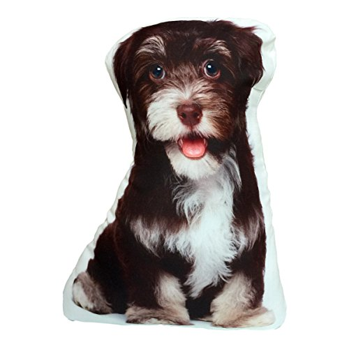Shih Tzu Fluffy Dog Shaped Stuffed Decorative Pillow