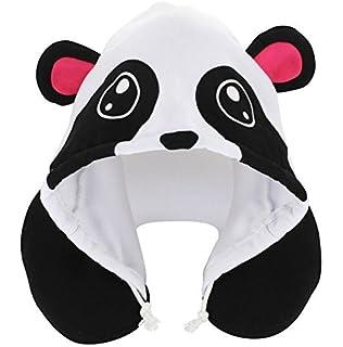 kovot animal panda hoodie travel pillows whiteblack