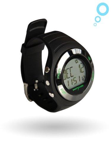 Swimovate Poolmate Live Lap Counter Swim Watch with Vibrating Alarm, Black