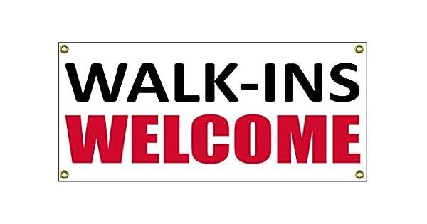 Amazon.com: Walk Ins bienvenidos Banner tienda al por menor ...