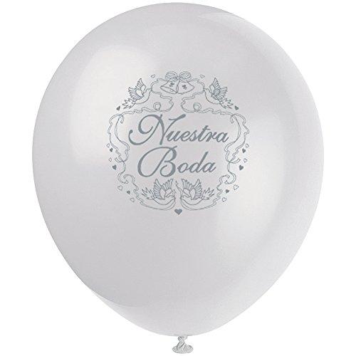 "12"" Latex Nuestra Boda Balloons, 8ct"