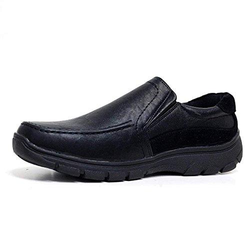 Det Chaussures Lacets Formel Noir 6 Large Cuir Doublé Ou Travail Daim En Raccord De Fixation 11 Confort De Emmancher Coussin D'affaires Léger Dimensionner Marche Hommes Tactile tnwOv4qB4x