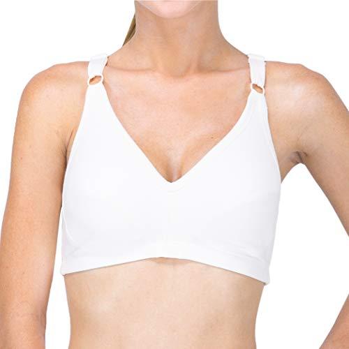 Cottonique Latex Free Slimfit Pullover Bra (W12215) XS/Natural