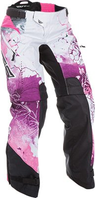 Fly Racing Unisex-Adult Kinetic Women's Over Boots Pants Pink/Purple Size 17/Size 18