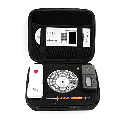 Turntables Adjustment Tools Set with Case, 6 in 1 Professional Turntable Scale Stylus Cartridge Alignment Protractor Kit for Record Player