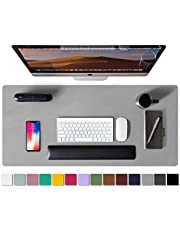 Leather Desk Pad Protector,Mouse Pad,Office Desk Mat,Non-Slip PU Leather Desk Blotter,Laptop Desk Pad,Waterproof Desk Writing Pad for Office and Home