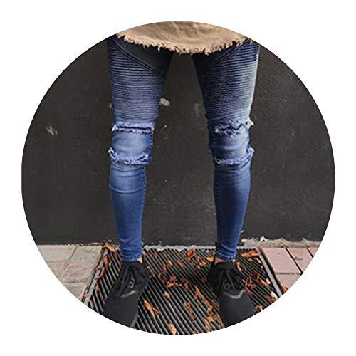 Men Jeans Streetwear Skateboard Straight Pants Man Casual Elastic Jeans,H1860,34