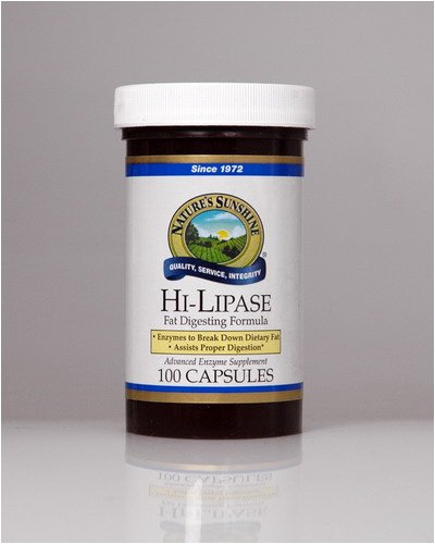 Naturessunshine Hi Lipase Supports Digestive System (120 LU) 100 Capsules (Pack of 12) by Nature's Sunshine (Image #1)