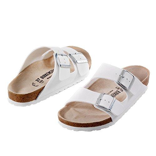 Sandali bianco sporco per donna Birkenstock Arizona qWe679CR