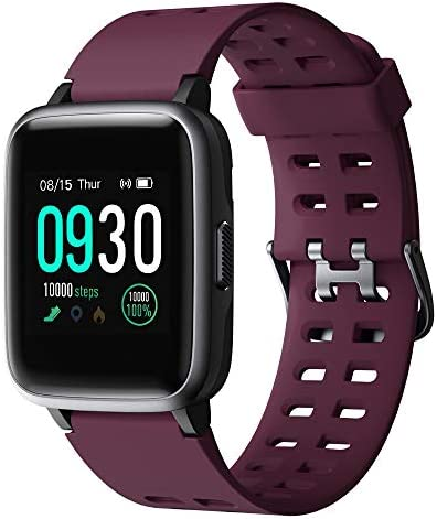 Willful Smart Watch for Android Phones Compatible iPhone Samsung IP68 Swimming Waterproof Smartwatch Sports Watch Fitness Tracker Heart Rate Monitor Digital Watch Smart Watches for Men Women Purple