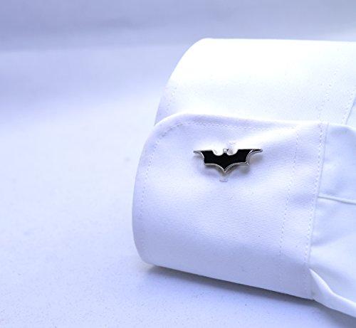 Cool Batman en métal noir Boutons de manchette pour homme Idée cadeau tendance pour fête de mariage