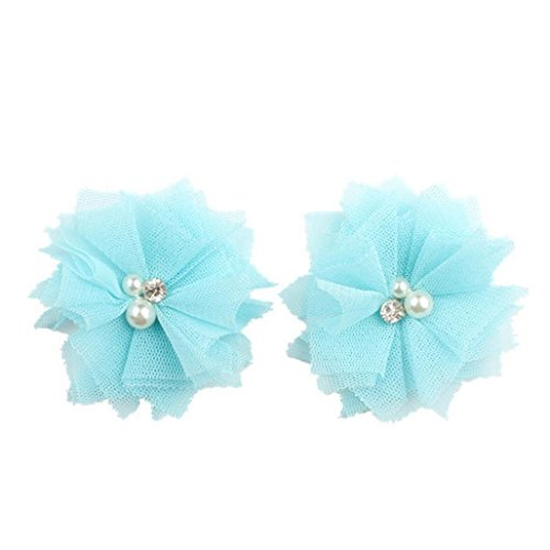 Price comparison product image Binmer(TM) 2PCS Hair Clips Girls Candy Colors Princess Girl Head Accessories Hairpin (Sky Blue)