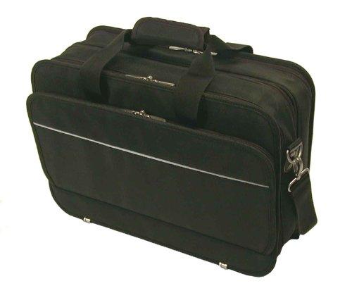 Bond Street Black Ballistic Nylon Long Wear Laptop ()