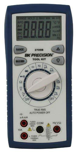 (BK Precision 2709B Auto-Ranging, True RMS Digital Multimeter, 10 Amp, 750VAC, 1000VDC, 66 Megaohms, 66 Millifarads, 66 MHz)
