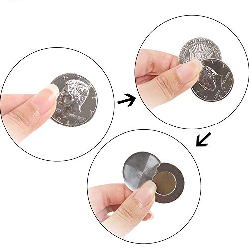 Half Dollar Coin Magic Tricks Professional Magician Props Close up Magic Stage Illusions ()