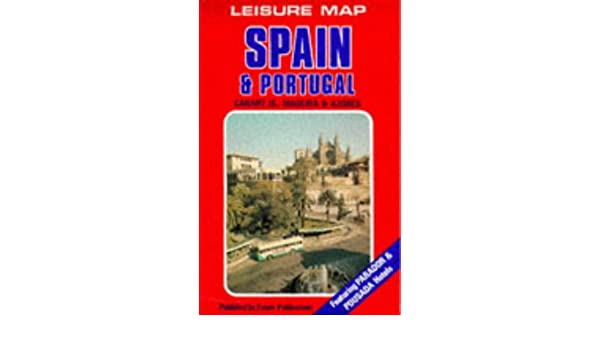 Spain And Portugal European Leisure Map Basque English - Portugal map english